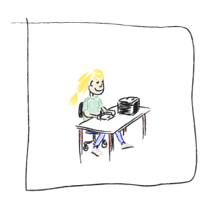 VA Dutch virtual assistant Illustration